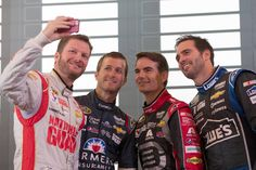 Selfie with all 4 Hendrick drivers ready for the 2014 Chase.
