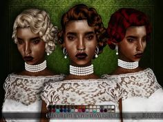 Store Tight Wave Hair - 3t4 Conversion - The Sims 4 Download - SimsDomination