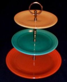 Fiesta ware trays, love the colors