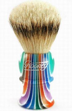 ~Rooney Shaving Brush in Multicolor Stripe | House of Beccaria#
