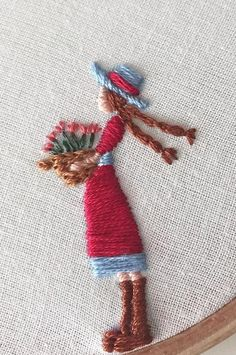 Satin stitch little girl