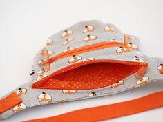 Hüft- & Gürteltaschen - HipBag Hüfttasche Gürteltasche Fuchs grau orange - ein Designerstück von Keko-Kreativ bei DaWanda