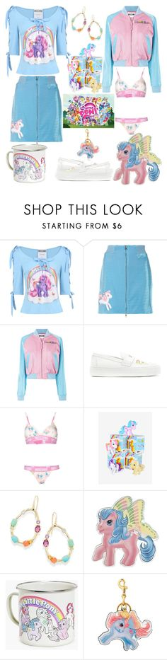 """My Little Pony"" by horcal ❤ liked on Polyvore featuring Moschino, Joshua's, Ippolita and My Little Pony"