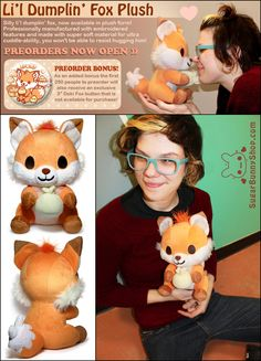 ♥,♥ Doki Fox Plush by celesse.deviantart.com on @deviantART