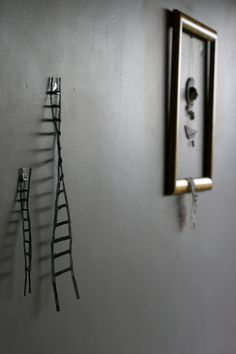 RESERVED for Amy handmade ladders for your wall by erinswindow Wall Ladders, Lay Low, Candle Sconces, Climbing, Door Handles, Wall Lights, Cool Stuff, Handmade, Gates