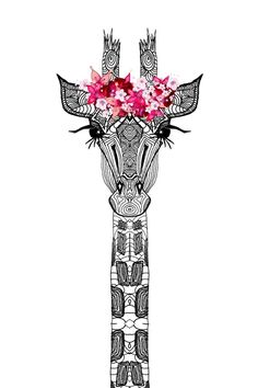 FLOWER GIRL Art Print I love that the giraffe is wearing a floral crown Poster Online, Giraffe Art, Giraffe Drawing, Giraffe Painting, Giraffe Pattern, Tumblr Wallpaper, Drawing Wallpaper, Wallpaper Ideas, Cute Wallpapers