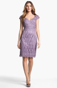 For Robin - this lilac color would look really gorgeous with the mint!  And love the floral lace pattern too!  (On sale at Nordsrom Rack!!!)  Patra Crochet Sheath Dress   Nordstrom