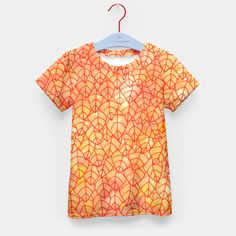 """""""Autumn foliage"""" Kid's T-shirt by Savousepate on Live Heroes #tshirt #teeshirt #kidsclothing #kidsapparel #orange #yellow #red #foliage #leaves #nature #autumncolors #fallcolors #pattern #drawing #watercolor"""