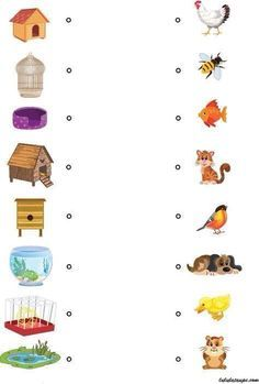 Everyone at home, educational game for children from 4 years - Education - Montessori Science, Montessori Practical Life, Montessori Toddler, Preschool Printables, Preschool Worksheets, Preschool Activities, Animal Masks For Kids, Mask For Kids, Kids Poems