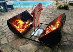 Fire Pit Design Idea For More Attractive – Best Outdoor Fire. Find ideas for outdoor fire pit and fireplace designs that let you get as simple or as fancy as your time and budget allow. Outdoor Oven, Outdoor Fire, Outdoor Cooking, Outdoor Decor, Metal Projects, Outdoor Projects, Bbq Grill, Grilling, Asado Grill