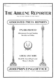 Abilene Reporter News ad in 1907-08 Directory for Abilene
