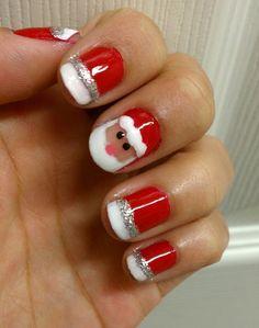 Christmas nail - SANTA