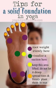 Yoga tips for the feet.