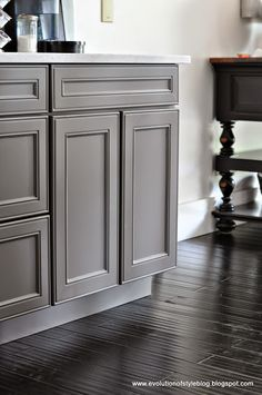 For colors, the homeowner already had them chosen - Repose Gray and Gauntlet Gray - both of them Sherwin Williams colors (color matched for Benjamin Moore's Advance paint).