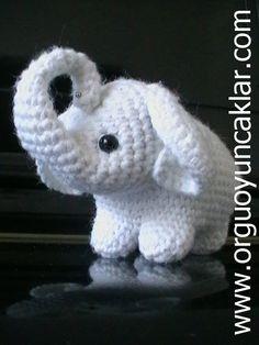 Amigurumi baby elephant pattern by Denizmum. (Pattern available to purchase). Crochet Elephant Pattern, Elephant Applique, Crochet Amigurumi Free Patterns, Crochet Animal Patterns, Stuffed Animal Patterns, Crochet Dolls, Crochet Animals, Cute Crochet, Crochet Crafts