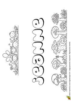 Coloriage du prénom de Jeanne dans un style Chewing-gum