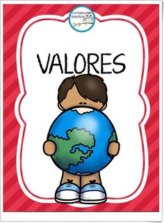 """Tarjetas de Valores"" (Educación para la Convivencia de Primaria) Teacher Hacks, Best Teacher, Teacher Gifts, Preschool Spanish, Learning Spanish, School Binder Covers, 1st Grade Math, Spanish Lessons, Kids Education"