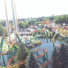 Enjoy all of the thrill rides and then eat fair food at Valleyfair