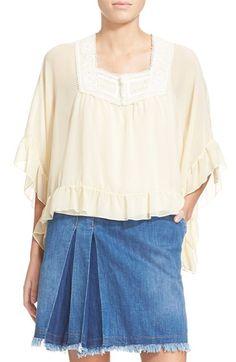 SEE BY CHLOÉ Ruffled Silk Georgette Top. #seebychloé #cloth #