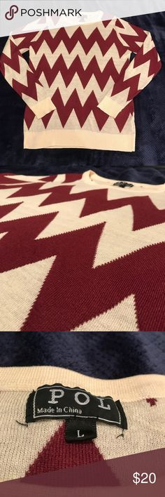POL Oversize Chevron Sweater! Comfy, stylish and fun sweater by POL! Bought in size L so it would be a little bigger and it is SO perfect to lounge/study/relax/hang out in! Great for anyone size XS-L. In good used condition, some very mild pilling but otherwise great! From smoke/pet-free home. Open to offers and bundle 2+ items for 15% off! POL Sweaters Crew & Scoop Necks