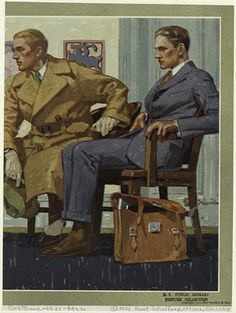 The ridiculously handsome men's fashions of the 1920's. Hart Schaffner & Marx catalog, 1921.
