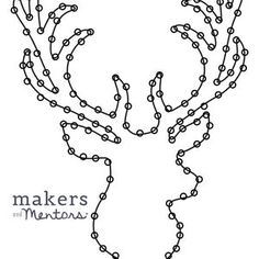 Deer Head String Art Template Pattern Crafting Design | Etsy String Art Templates, String Art Patterns, Celtic Tattoos, Celtic Art, Celtic Designs, Custom Wall, Yarn Colors, Pattern Art, Diy Design