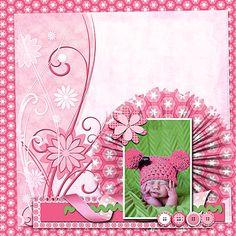 Digital Scrapbooking Lovely Pink Scrapbook by DigiScrapDelights