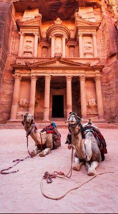 Early morning at The Treasury (Al Khazneh) in Petra, Jordan • photo: Gary McGovern