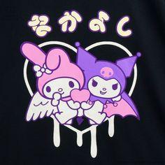 My Melody & Kuromi Sanrio Wallpaper, My Melody Wallpaper, Hello Kitty Wallpaper, Sanrio Characters, Cute Characters, Hello Kitty My Melody, Dibujos Cute, Bad Cats, Bad Kitty