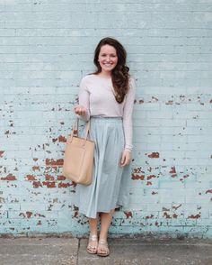 feminine modest outfit