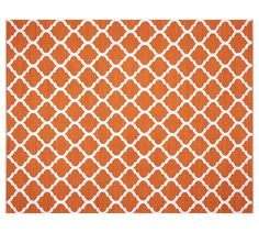 Becca Tile Reversible Indoor/Outdoor Rug - Orange