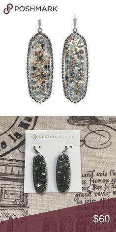 NWOT Kendra Scott Lauren Earrings •PERFECT CONDITION• NWOT Kendra Scott Lauren earrings in crushed black pearl. •Make me an offer! Anything is negotiable!• Kendra Scott Jewelry Earrings