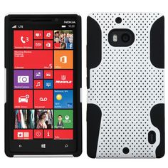 MYBAT Astronoot Protector Case for Nokia Lumia Icon 929 - White/Black