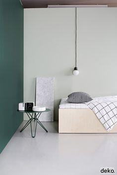 bedroom sleeping studio materials colors textures