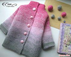 Пальто и кардиган для девочек. Градиент крючком - Вязание - Страна Мам