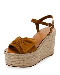 97ef164cb39 Kenneth Cole Odile Ankle Tie Espadrille Wedge Sandals ($82) ❤ liked ...