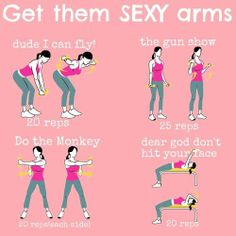 Workout for tight toned sexy arms.   #sexyarms #workout #sweetsweat