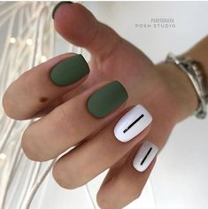 140 amazing spring nail art designs ideas to try – page 22 Cute Acrylic Nails, Matte Nails, Fun Nails, Easy Nails, Spring Nail Art, Manicure E Pedicure, Nail Polish Strips, Green Nails, Nagel Gel
