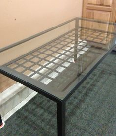 """SOLD - Classic Wrought Iron  Glass Dining Table  Classic two level wrought iron with glass top dining table in excellent condition and seats six. Dimensions: 59"""" W x 31"""" D x 29 1/2"""" H www.relovedinteriors.com"""