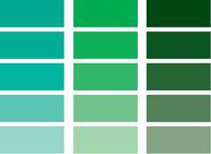 green/blue pantone
