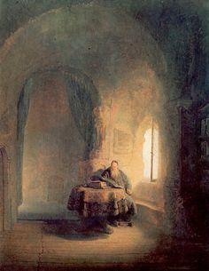"Rembrandt van Rijn – ""Scholar Reading"" 1631"