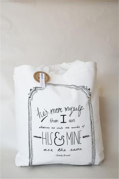 Screen Printed Cushions and Tote Bags - Mr and Mrs in Love