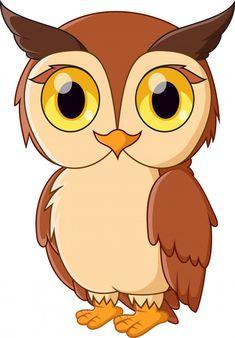 Cartoon Owl Drawing, Cute Owl Cartoon, Baby Drawing, Cute Little Drawings, Art Drawings For Kids, Drawing For Kids, Cute Drawings, Owl Clip Art, Owl Art
