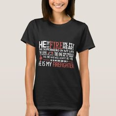 he is my firefighter T-Shirt firefighter humor, firefighter cake, firefighter valentine #militarygift #firefighterwife #culvercityfiredepartment, back to school, aesthetic wallpaper, y2k fashion Son In Law Gifts, Dad Gifts, Valentine Gifts For Husband, Matching Couples, Wardrobe Staples, Shirt Style, Fitness Models, Firefighter Gifts, Firefighter Boyfriend