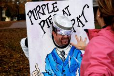 Phi Mu of Elon hosted Purple Pies at Pat, a pie throwing contest to raise money and awareness for pancreatic cancer research.