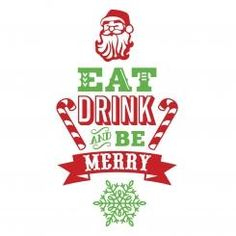 Eat Drink and Be Merry Wall Sticker Adesivo da Muro