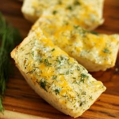 Cheddar Ranch Bread - You will love this tangy, lighter alternative to traditional garlic bread. Goes great with salads!