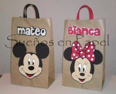 Minnie Mouse Theme Party, Mickey Party, Mouse Parties, Mickey Birthday, Birthday Party Favors, Baby Birthday, Owl 1st Birthdays, Cool Paper Crafts, Party Gift Bags