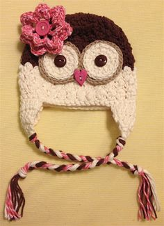 baby Girl OWL hat. Inspiration only.