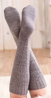 Ravelry: Fitzcarraldo Knee Sock pattern by Kate Atherley Loom Knitting, Knitting Socks, Hand Knitting, Knitting Patterns, Knit Socks, Crochet Socks Pattern, Knit Or Crochet, Sexy Socks, Custom Socks
